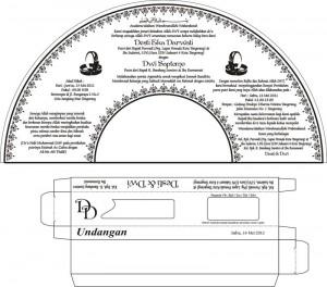 Contoh Draft Undangan Pernikahan Kipas