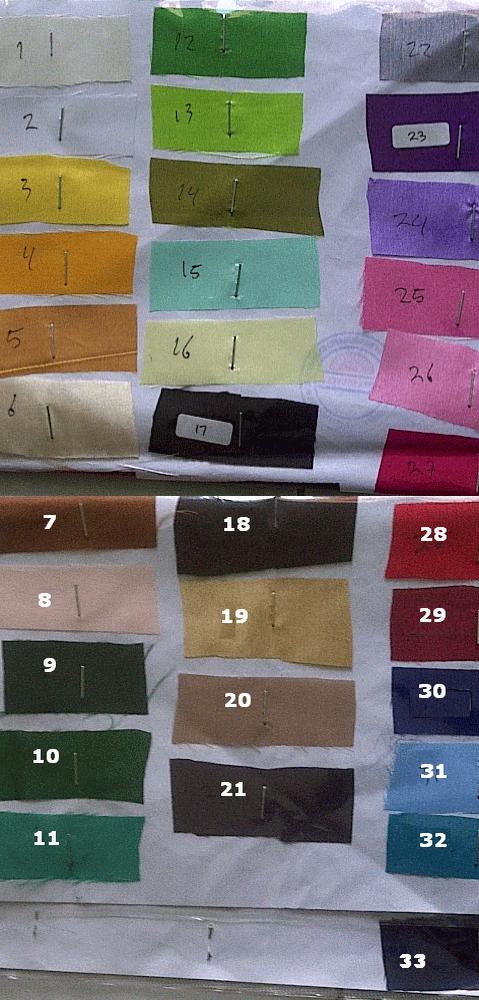 warna kain kipas undangan