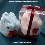 Towel Cake Kelinci – Souvenir Handuk Lucu untuk Resepsi pernikahan anda