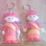 Boneka Kain Flanel Pakaian adat Minang Kabau Sumatera barat