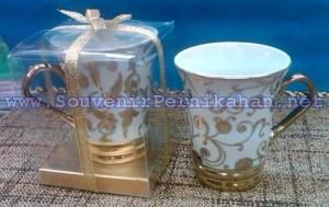Souvenir Gelas Keramik Cantik