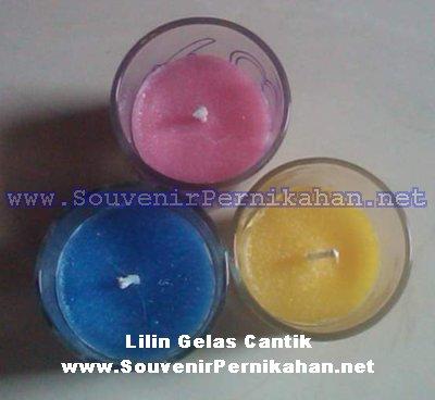 lilin gelas cantik