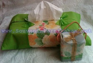 Souvenir Sarung Tempat Tissue Puring Double Busa Kualitas Super