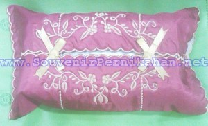sarung tempat tissue satin bordir