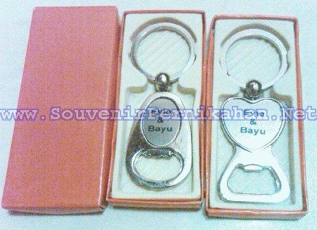 souvenir gantungan kunci stainless steel