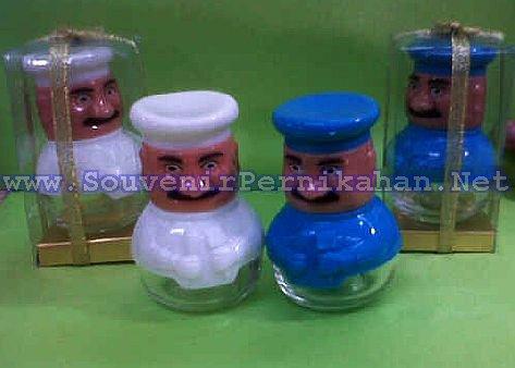 souvenir tempat lada dan garam keramik