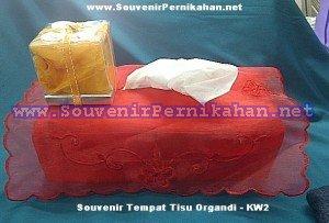 Tempat Tissue Organdi Box Mika Kotak