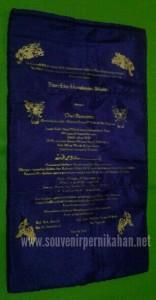 Undangan Pernikahan Sarung Tempat Tissue Satin