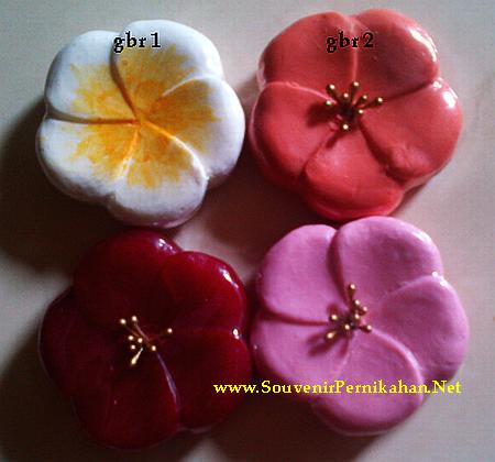 souvenir sabun bunga eksklusif