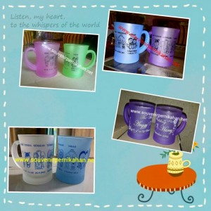 Gelas Cl dove warna