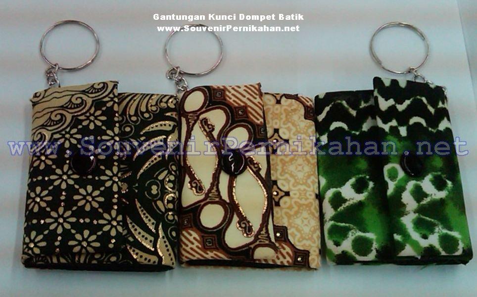 jual gantungan kunci dompet batik