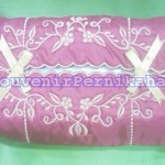 Souvenir Pernikahan Tempat Tissue Satin Bordir
