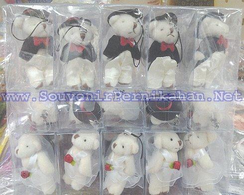 souvenir gantungan hp boneka teddy bear